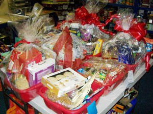 Some of the finished hampers from The Beacon reduced